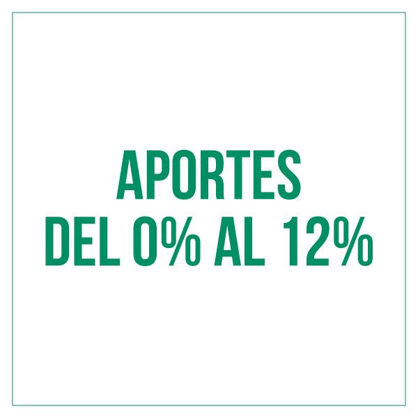 """Requisitos para Cambio de Aportes del 0% al 12%"""""""
