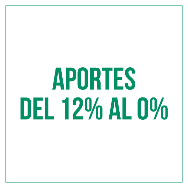 Requisitos para Cambio de Aportes del 12% al 0%