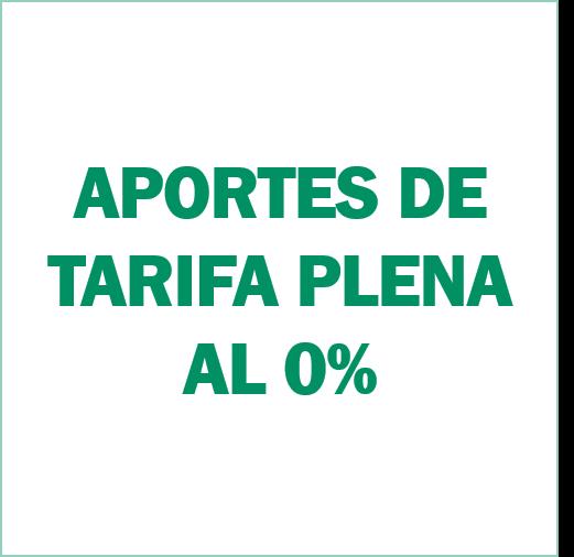 Requisitos para Cambio de Aportes de tarifa plena al 0%